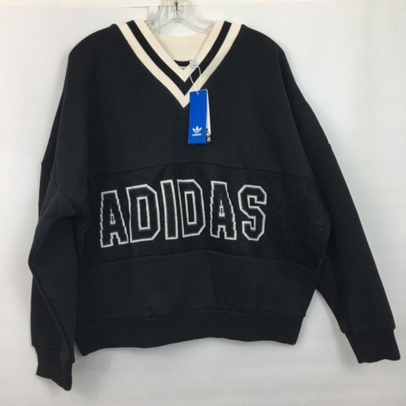 adidas Adibreak Logo V-Neck Pull Over Sweatshirt d71012a1115